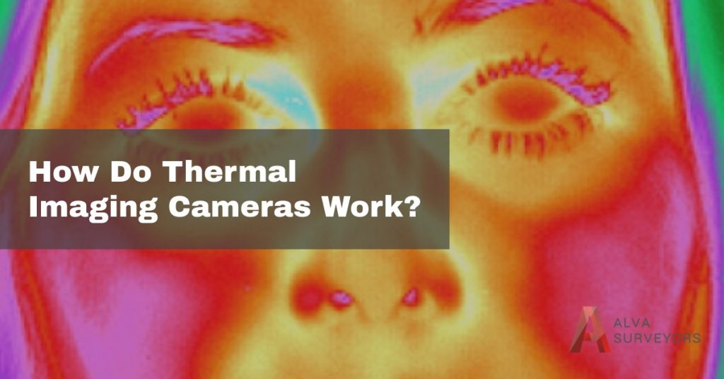 Close up of a womans face taken with a thermal imaging camera.